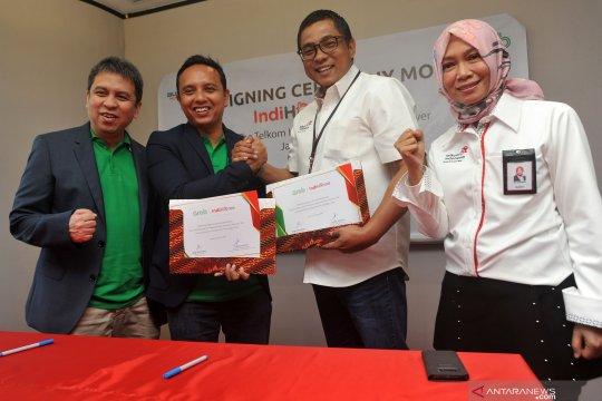 Kerjasama Telkom - Grab Indonesia
