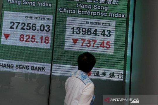 Saham Hong Kong rugi empat hari beruntun, indeks HSI turun 1,95 persen