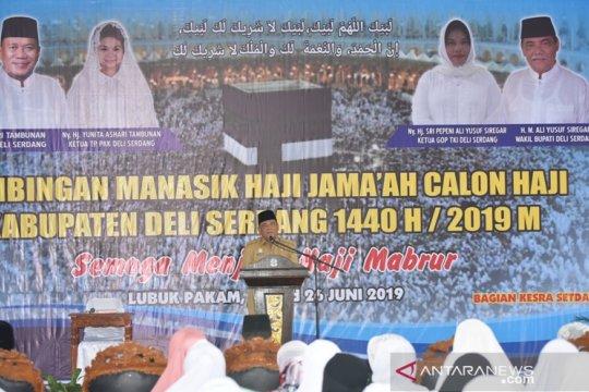 Manasik akbar digelar calon haji Deliserdang, Sumut