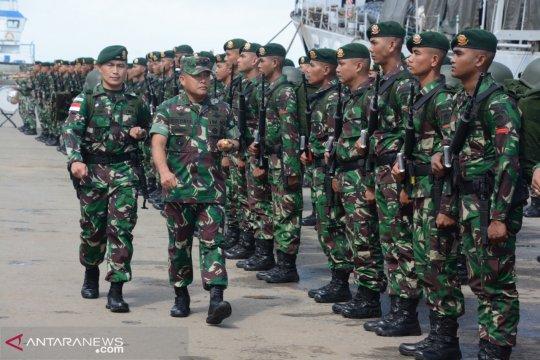 Ratusan prajurit infanteri Kostrad bersiap jaga perbatasan negara