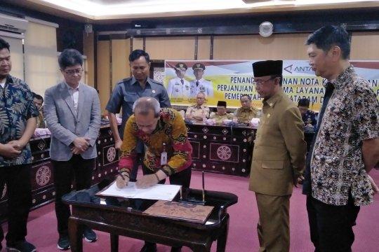 Mataram-LKBN Antara tandatangani nota kesepahaman informasi publik