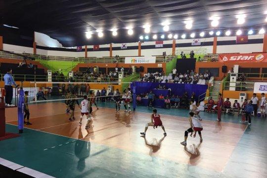 Tim voli putra Indonesia raih kemenangan atas Korut