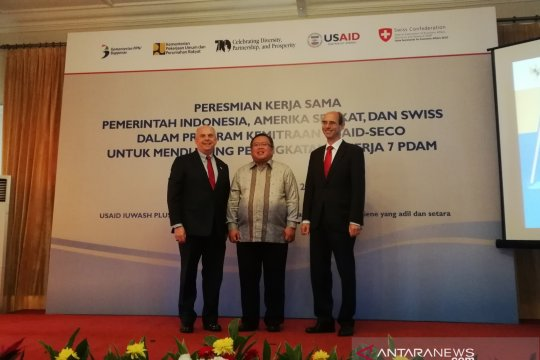 Indonesia-AS-Swiss sediakan air bersih bagi 60.000 warga