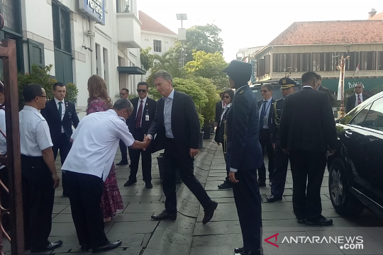 Presiden Argentina kunjungi kawasan wisata Kota Tua Jakarta Barat