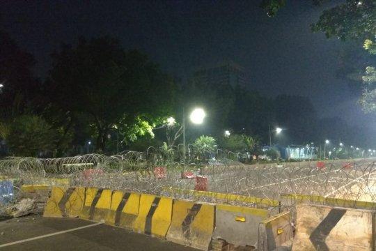 Jelang putusan MK, Jalan Medan Merdeka Barat terpantau sepi