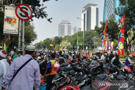 Polres Metro Jakarta Pusat sesalkan parkir liar motor massa aksi