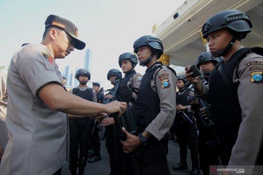 Pengamanan kota Surabaya jelang putusan Mahkamah Konstitusi