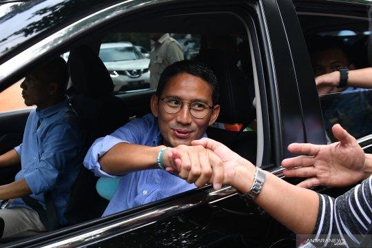 Sandiaga tiba di kediaman Prabowo