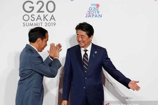 Presiden Jokowi disambut PM Jepang Shinzo Abe