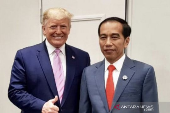 Trump sampaikan pesan demokrasi kepada Jokowi dalam momen HUT ke-75 RI