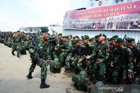 Satgas Pamtas RI-Malaysia tiba di Mahakam Ulu