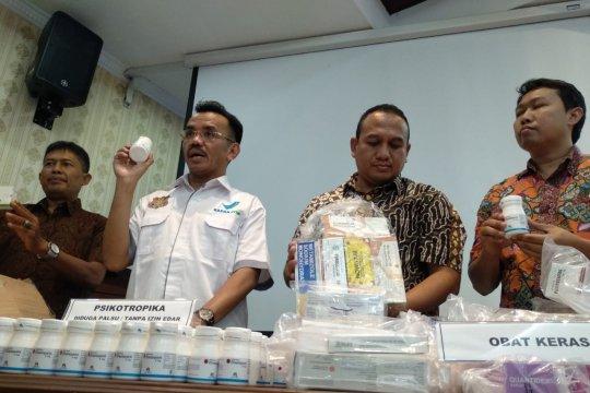BBPOM-Polda Sumbar ungkap peredaran ratusan ribu butir obat ilegal