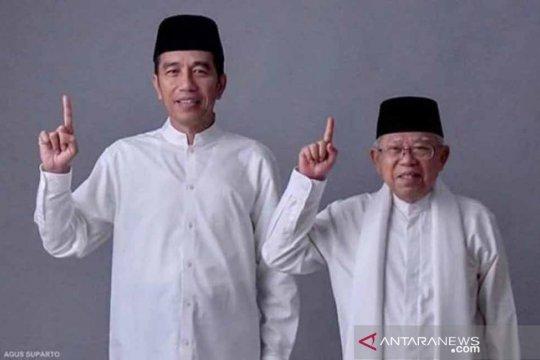 Jokowi-Ma'ruf akan berangkat ke KPU dari Istana Merdeka