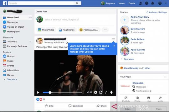 Facebook bahasa Indonesia down?