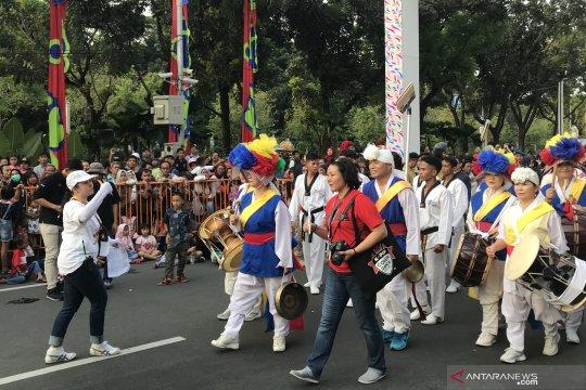 Kebudayaan Korea ikut ramaikan parade Jakarnaval 2019