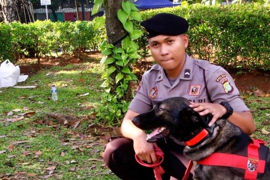 Anjing K9 Polda Metro Jaya amankan sidang MK