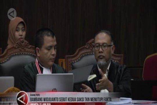 Bambang Widjojanto sebut kedua saksi TKN menutupi fakta