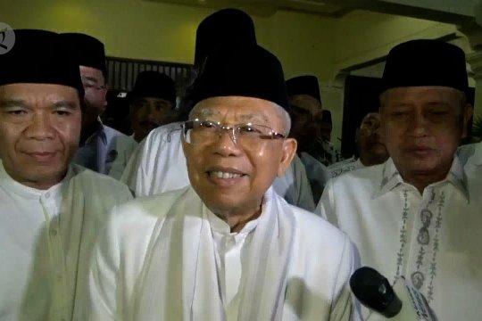 Ma'ruf Amin segera agendakan bertemu Prabowo-Sandi