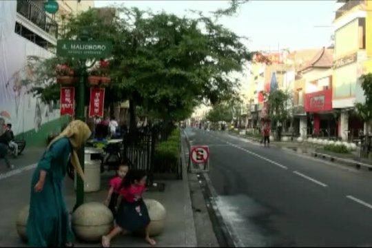 Uji coba semi pedestrian di kawasan Malioboro