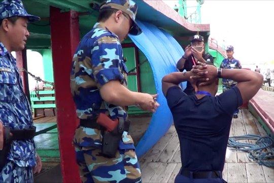 Petugas Pengamanan laut gelar latihan di Benoa-Bali