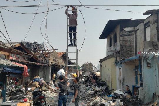 PLN perbaiki jaringan listrik terdampak kebakaran di Tanah Abang