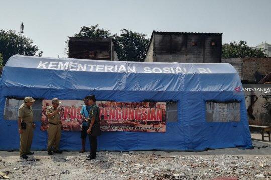 Tenda pengungsian korban kebakaran Tanah Abang dipindahkan