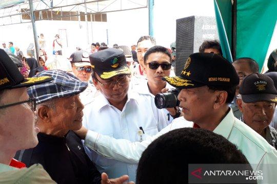Wiranto minta pembangunan huntap di Pasigala libatkan pengusaha lokal