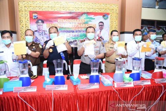 Polisi gulung jaringan pengedar, 56.502 jiwa terhindar bahaya narkoba