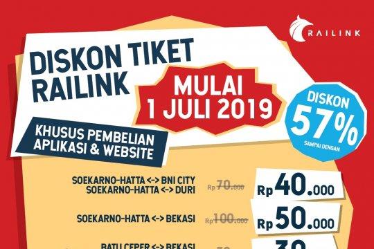 Tiket KA Bandara Soekarno-Hatta didiskon hingga 57 persen