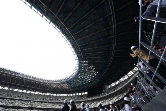 Stadion Olimpiade Tokyo rampung 90 persen