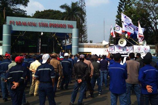 Krakatau Steel pastikan demo  dilakukan pekerja outsourcing