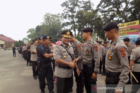 Kapolda Jambi sambut personil yang BKO di Jakarta