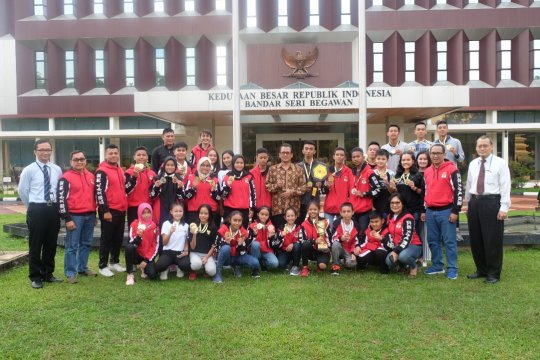 Indonesia juara umum kejuaraan karate internasional Brunei