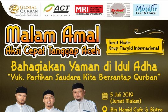ACT hadirkan Raihan gelar malam peduli Yaman di Banda Aceh