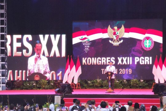 Presiden minta PGRI berperan perkokoh persatuan dalam keberagaman
