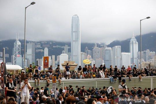 Polisi Hong Kong amankan 47 orang pascarusuh