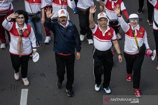 Panglima TNI dan Kapolri ikut olahraga bersama