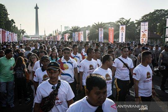 Ribuan warga turut ramaikan HUT Bhayangkara di Monas