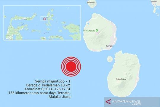 BNPB: Dampak gempa Maluku Utara masih didata