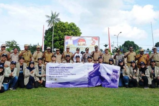 30 mahasiswa UGM KKN-PPM di Pulau Samberpasi Biak
