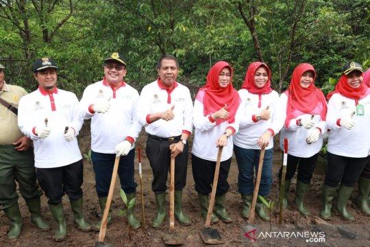 Pemkab Siak tanam 1.000 bibit mangrove atasi abrasi
