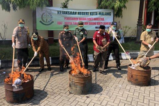 Kejari Kota Malang musnahkan barang bukti narkotika