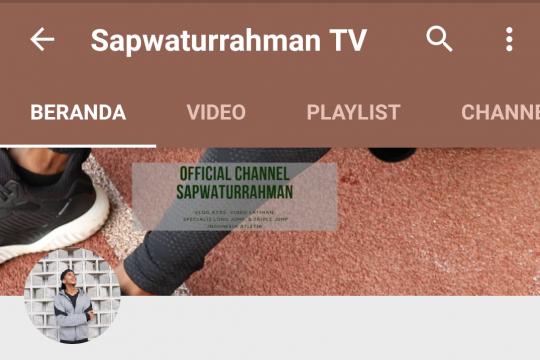Pelompat jauh Sapwaturrahman mulai hobi ngevlog