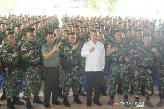 Kabinda Gorontalo bekali satgas pengamanan perbatasan