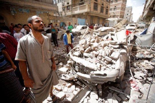 Serangan udara ke pasar di Yaman tewaskan 10 orang