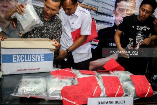 Polda Jatim gagalkan penyelundupan sabu-sabu 11,5 kilogram