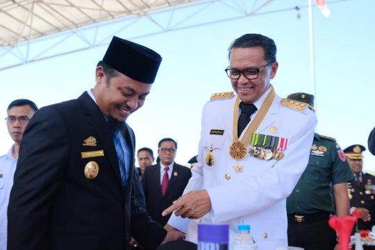 Gubernur-Wagub Sulsel kompak hadiri upacara Hari Bayangkara Ke-73