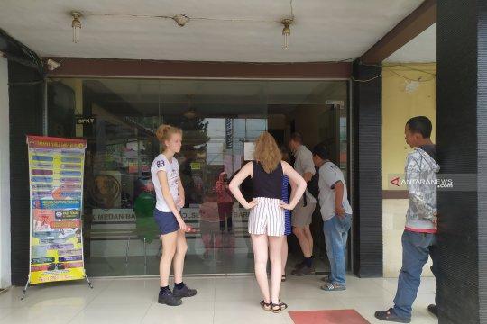 Sekeluarga wisatawan asal Prancis jadi korban penjambretan di Medan