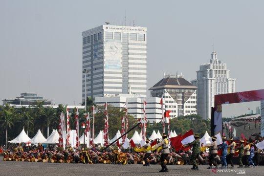 Rampak Gendang sinergitas TNI-Polri di HUT Bhayangkara 2019
