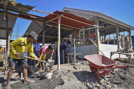 Progres pembangunan rumah bantuan korban gempa Lombok